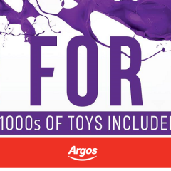 Argos 3 For 2 On Toys Returns Today