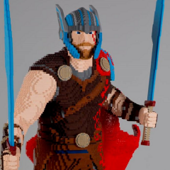 Life-sized LEGO Thor Thunders To Comic-Con