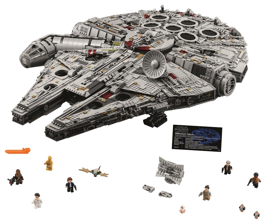 Lego Star Wars UCS Millennium Falcon 75192 Set Of 3 Posters Store Promo