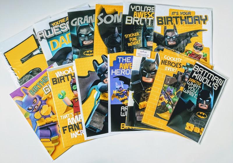 The Lego Batman Movie Hallmark Greetings Cards Range Bricksfanz