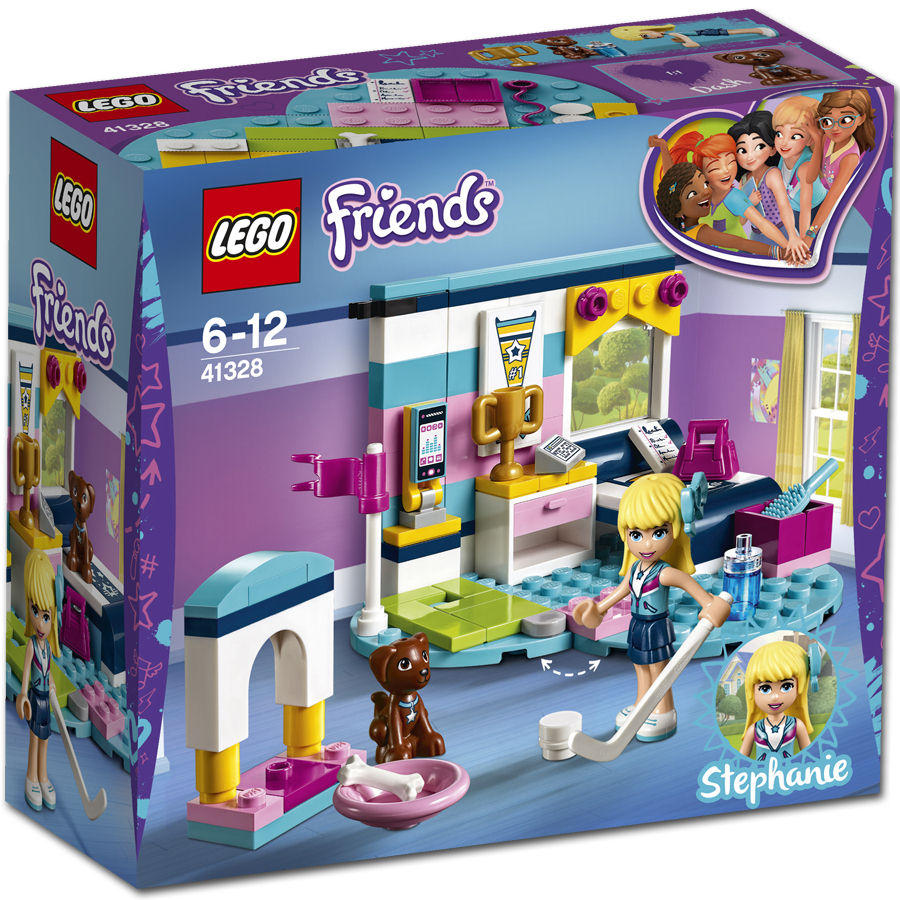 This LEGO Friends Stephanieu0027s Bedroom 41328 Is Set On A Blue Heart  Shaped  Base And Perfectly Reflects Stephanieu0027s Sporty Personality.