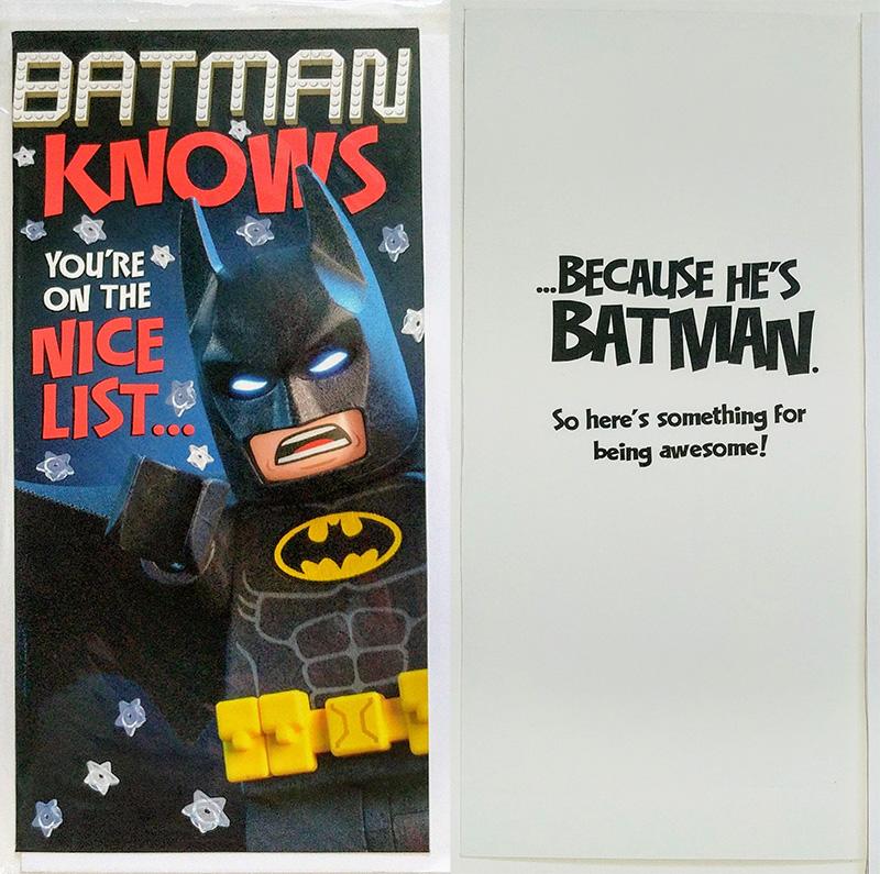 LEGO Batman Movie Christmas Cards From Hallmark