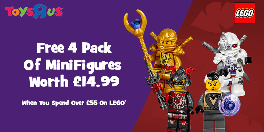 Free LEGO Minifigure Packs At Toys R Us | BricksFanz