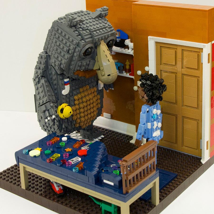 John Lewis' Moz The Monster Gets A LEGO Makeover