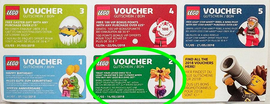 LEGO Calendar Vouchers: February Flower | BricksFanz