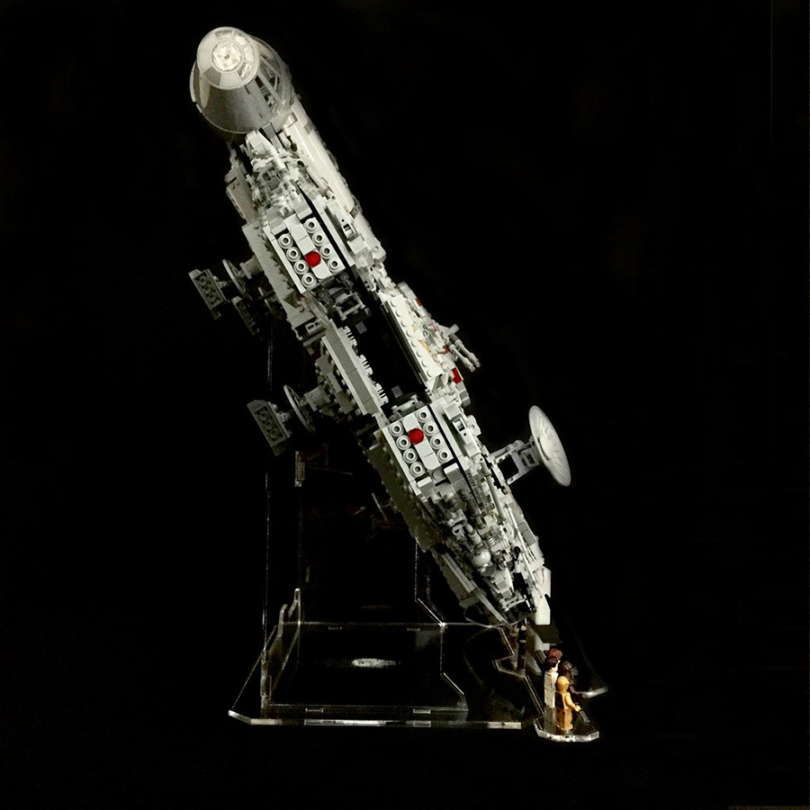wicked brick releases ucs falcon display stand bricksfanz. Black Bedroom Furniture Sets. Home Design Ideas