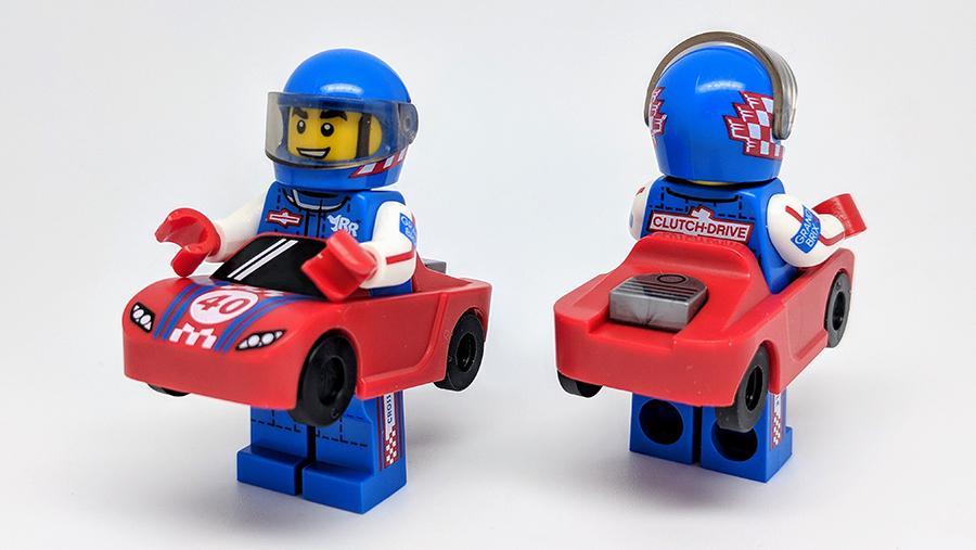 Lego Series 18 Race Car Guy  Minifigure