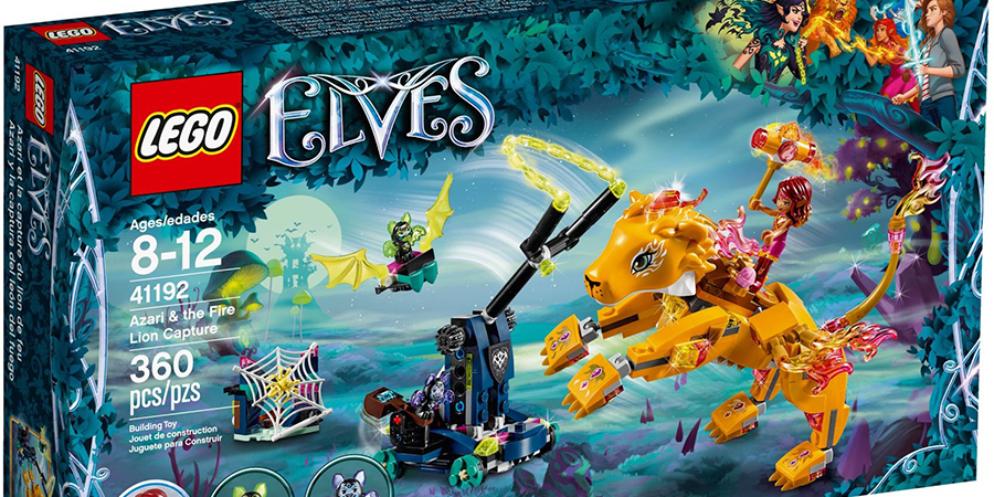 Lego Elves 41192 Azari and the Fire Lion Capture Vespe Brand New