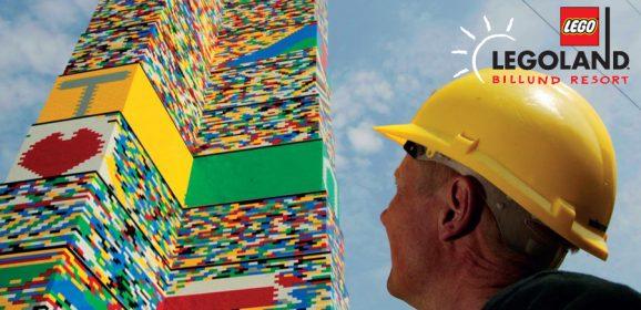 LEGO World Record Tower Attempt At LEGOLAND Billund