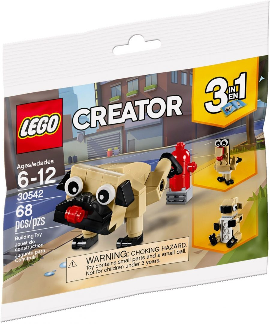 Free LEGO Creator Cute Pug Polybag Now Available | BricksFanz