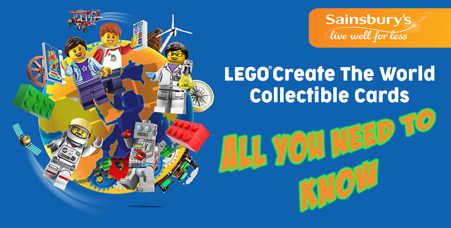 20 x LEGO packs The World OFFICIAL collectors STICKERS Sainsbury/'s cards