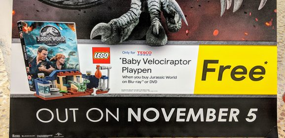 Free LEGO With Jurassic World 2 At Tesco
