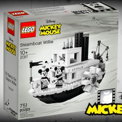LEGO Ideas Steamboat Willie Set Available Now