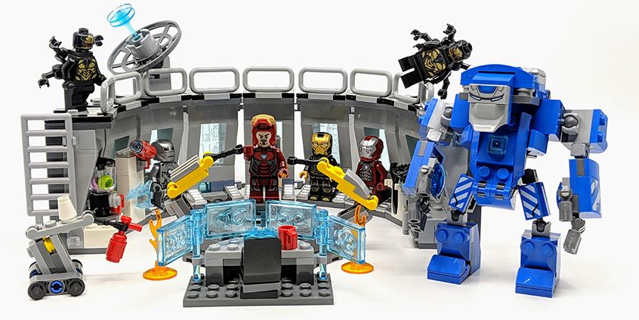 lego marvel avengers iron man hall of armor 76125 - 900×451