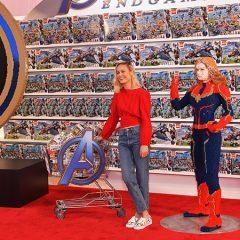 Avengers Stars Visit Downtown Disney LEGO Store