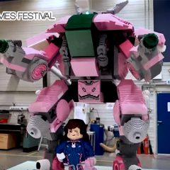 LEGO Overwatch D. Va Arrives In Trafalgar Square