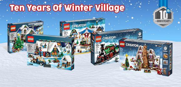 Celebrating 10 Years Of LEGO Winter Village