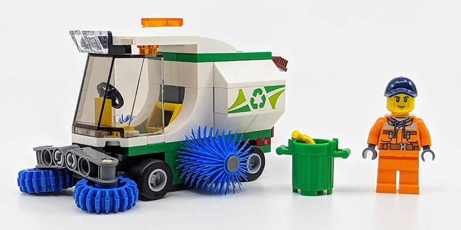 Lego Custom Street Sweeper Truck  City Town