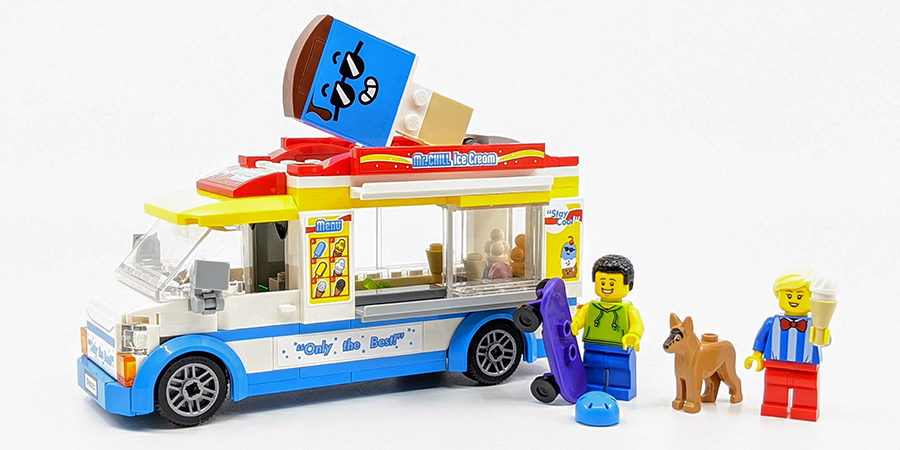 Cool Building Set for Kids 200 Pieces LEGO City Ice-Cream Truck 60253 New 2020