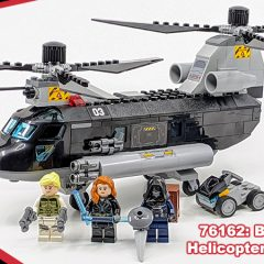 76162: Black Widow's Helicopter Chase Set Review