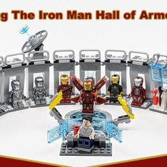 Combining The LEGO Iron Man Hall Of Armoury Sets