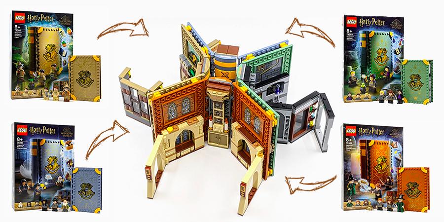 combining lego harry potter hogwarts moments  bricksfanz