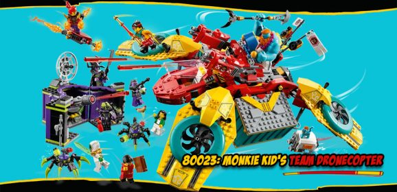 80023: Monkie Kid's Team Dronecopter Set Review